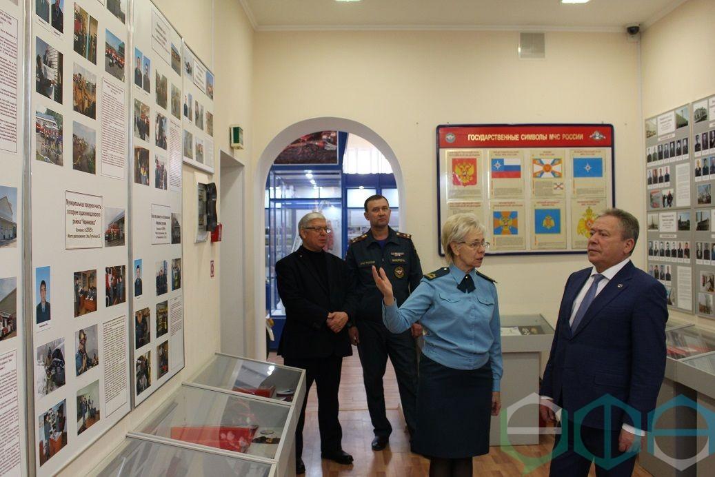 Глава Администрации Уфы Ульфат Мустафин посетил Центр противопожарной пропаганды и общественных связей