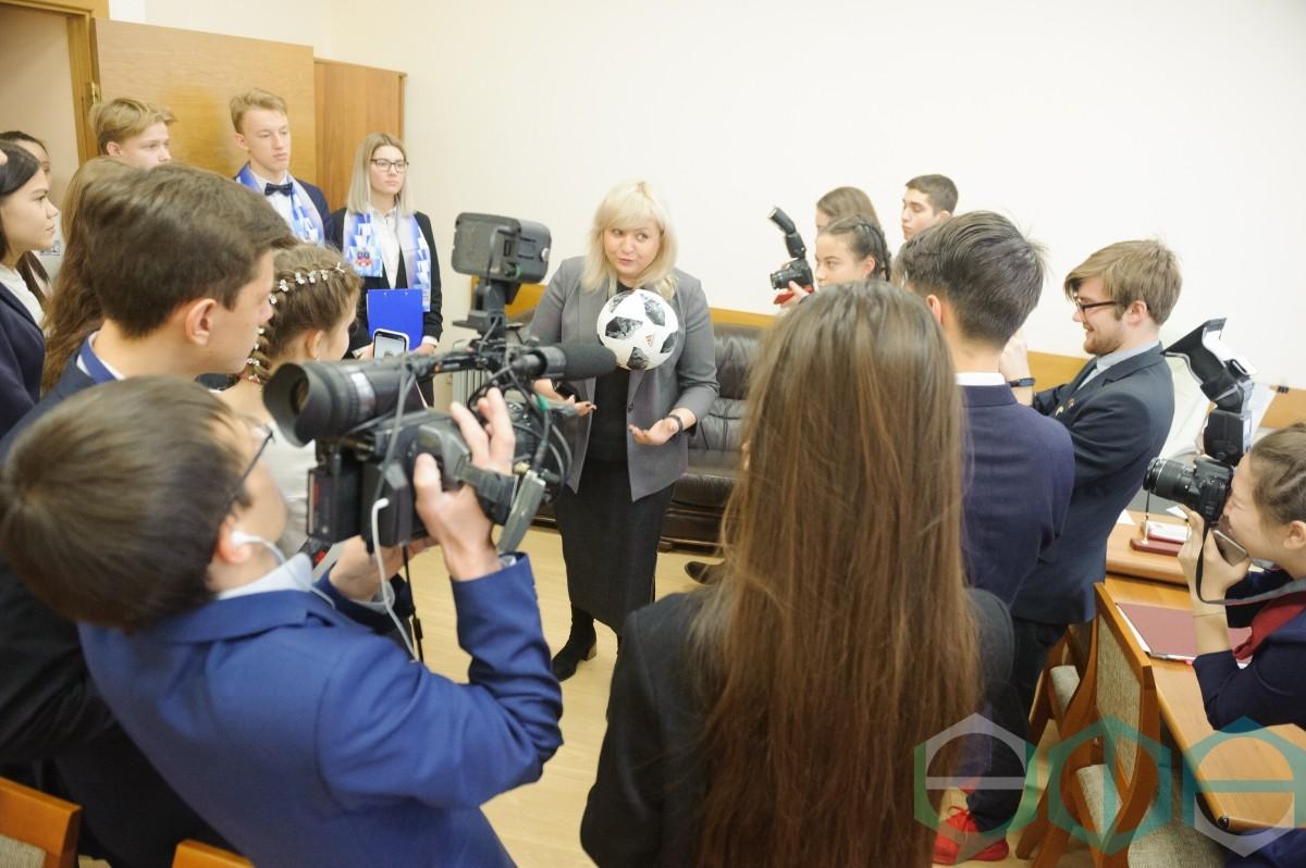 Ульфат Мустафин встретился с юными журналистами