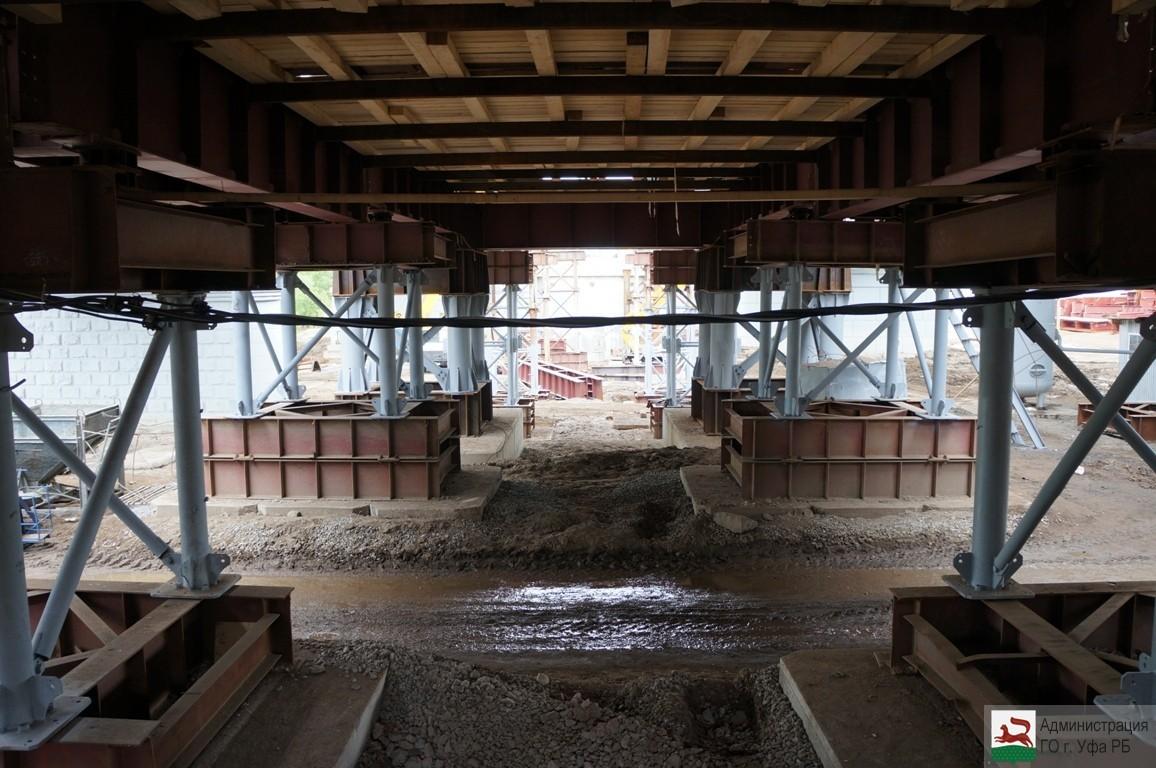 В Уфе ведется строительство нового моста