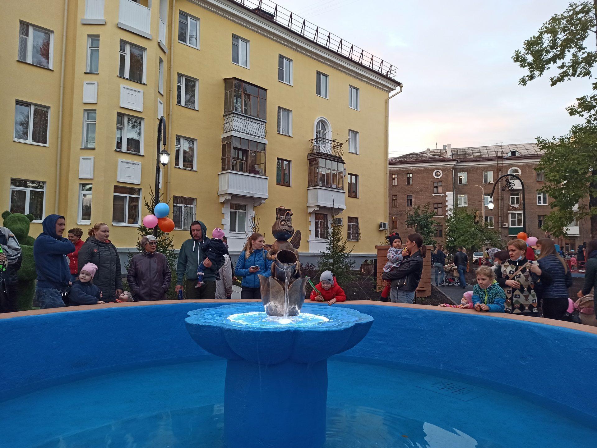 В Уфе открыли возрожденный фонтан