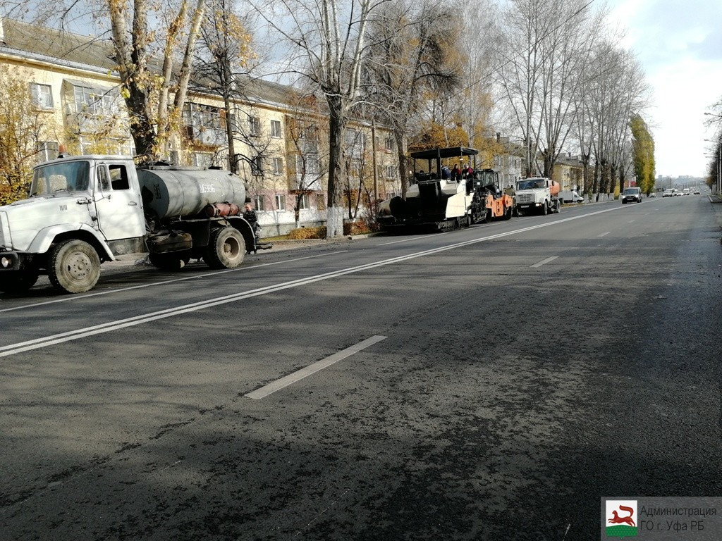 В Уфе завершаются дорожные работы на улице Правды