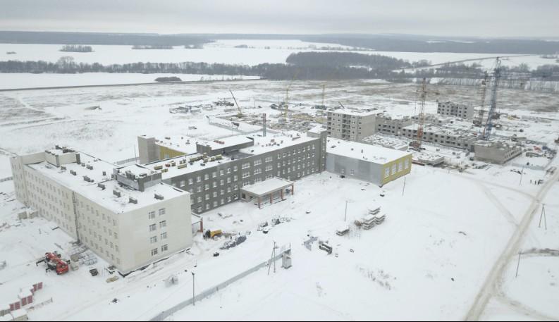 В селе Миловка Уфимского района продолжается строительство общеобразовательной школы на 1225 мест