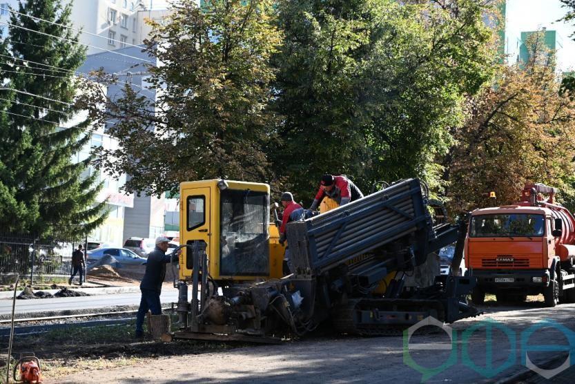 Основные работы по устройству проезжей части бульвара Ибрагимова планируется завершить в текущем году