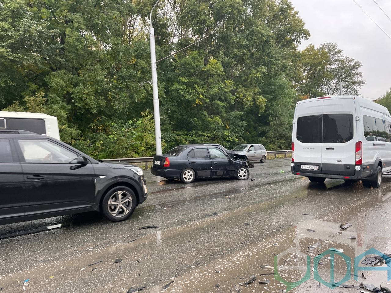 В массовом ДТП на улице Сельской Богородской пострадали два человека